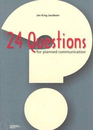24 Questions For Planned Communication - Jan Krag Jacobsen - Bog
